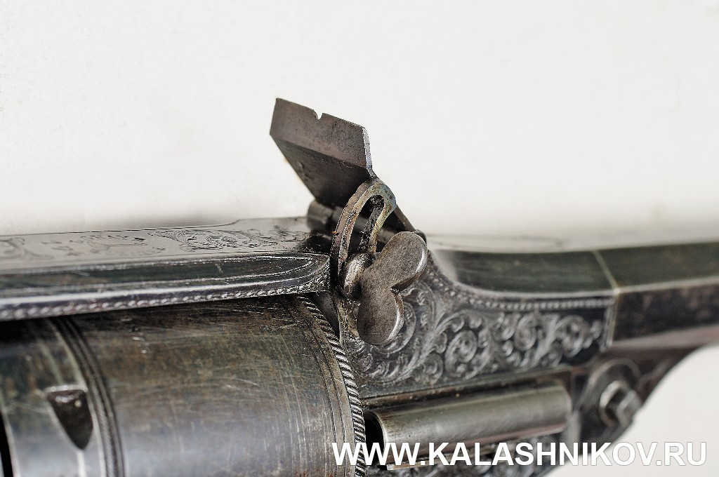 Револьверная винтовка Lambert Ghaye, регулировка прицельной планки. Журнал Калашников