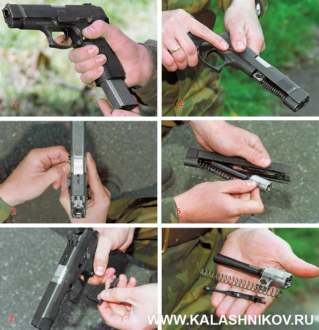 Пистолет Ярыгина (ПЯ). Неполная разборка. Журнал Калашников