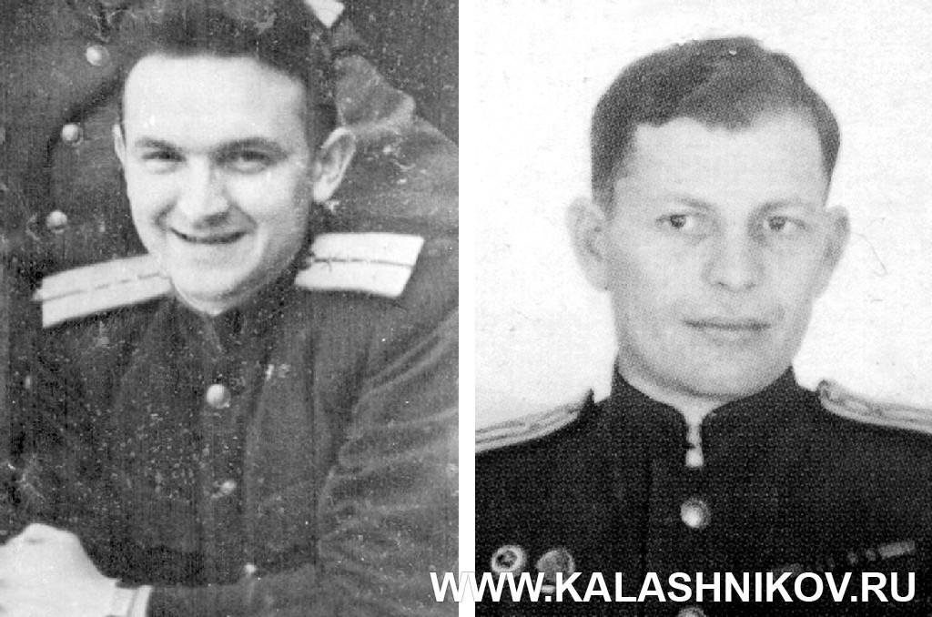 Инженер-капитан В. Ф. Лютый и инженер-капитан Б. Л. Каннель. Журнал Калашников