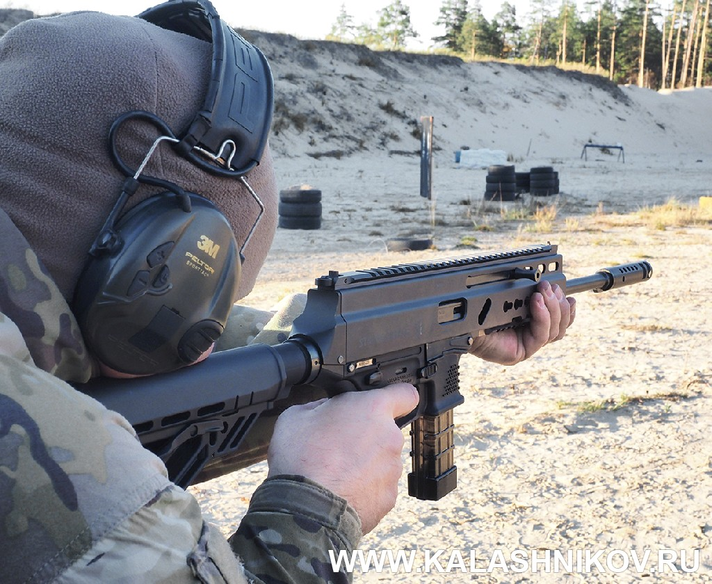 Гребень пистолета-карабина Grand Power Stribog «Стрибог». Журнал Калашников