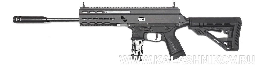 Пистолет-карабин Grand Power Stribog «Стрибог»  XRSR9A2. Вид справа. Журнал Калашников