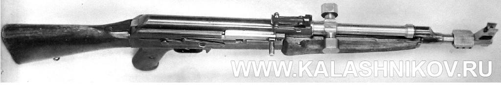 Вид механического тормозного устройства затворной рамы автомата Калашникова АК-47 №1. Журнал Калашников