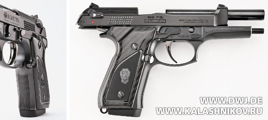 Пистолет Beretta 92FS Fusion Black на затворной задержке. DWJ. Журнал Калашников