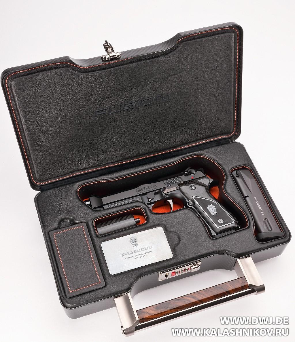 Пистолет Beretta 92FS Fusion Black. Кейс. DWJ. Журнал Калашников