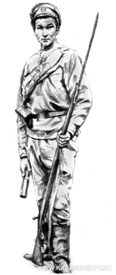Разведчик с гранатой образца 1914 года. Журнал Калашников