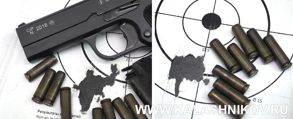 Мишени с результатами стрельбы из пистолета ТТК-F.  Журнал Калашников