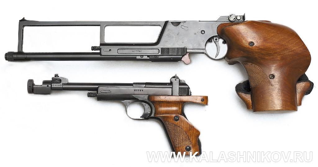 Спортивный пистолет МЦ-3 «Рекорд» и пистолет Марголина. Журнал Калашников