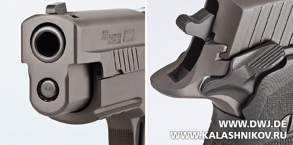 Пистолет SIG Sauer P226 Legion. Предохранитель. Журнал Калашников