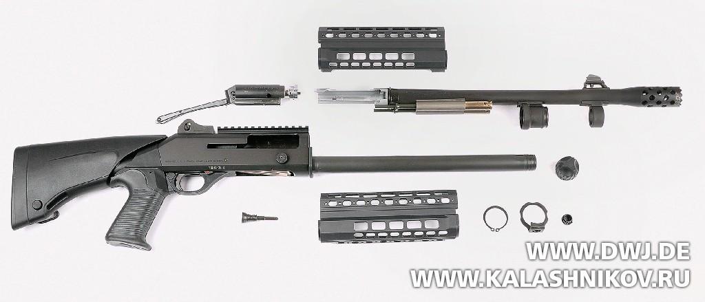 Ружьё Benelli M4 Super 90 AS T1, неполная разборка. Журнал Калашников