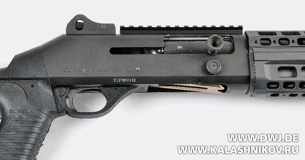 Ружьё Benelli M4 Super 90 AS T1, останов затвора. Журнал Калашников