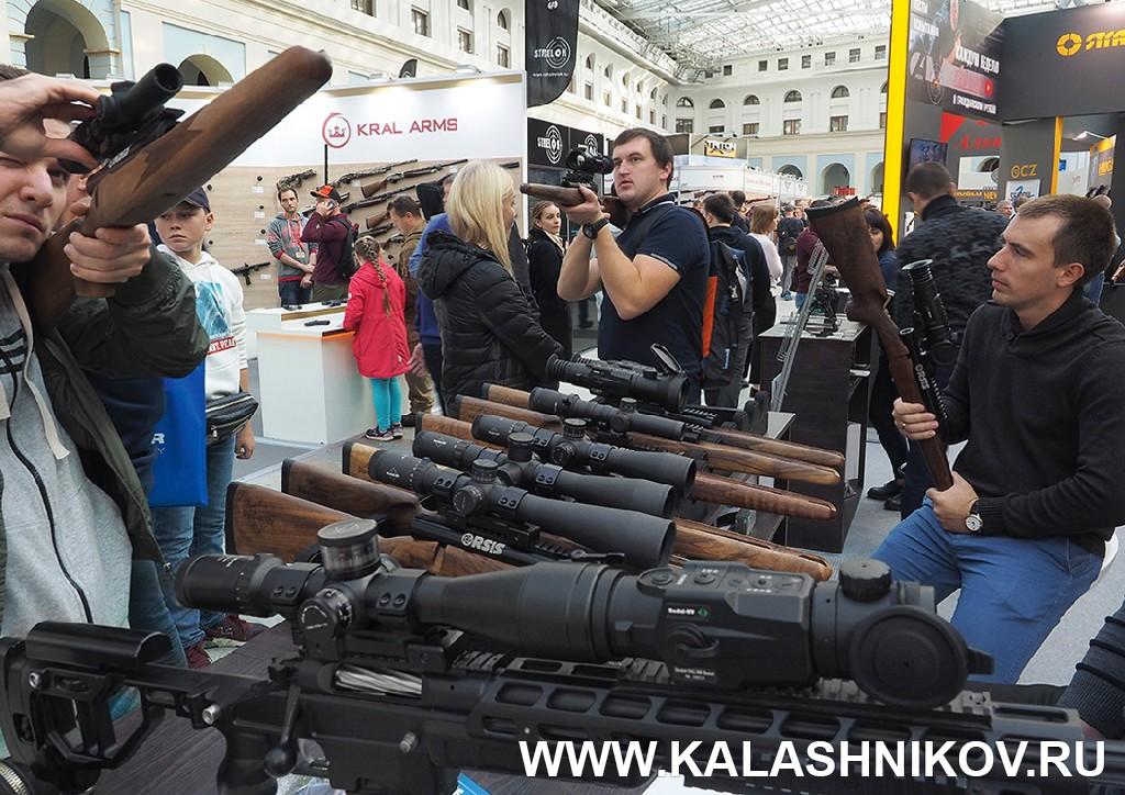 Выставка Arms Hunting 2018. Стенд компании  «Дедал-НВ». Журнал Калашников