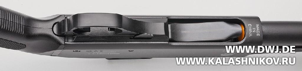 Многозарядное ружьё SDM М870. Вид на подаватель и магазин. Журнал Калашников