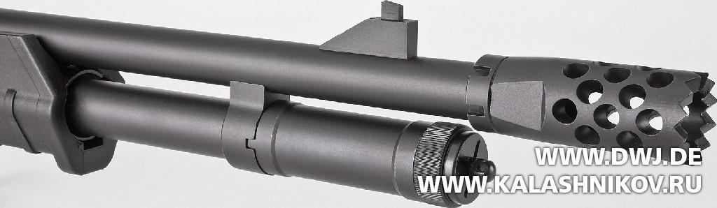 Многозарядное ружьё SDM М870. Дульная насадка. Журнал Калашников