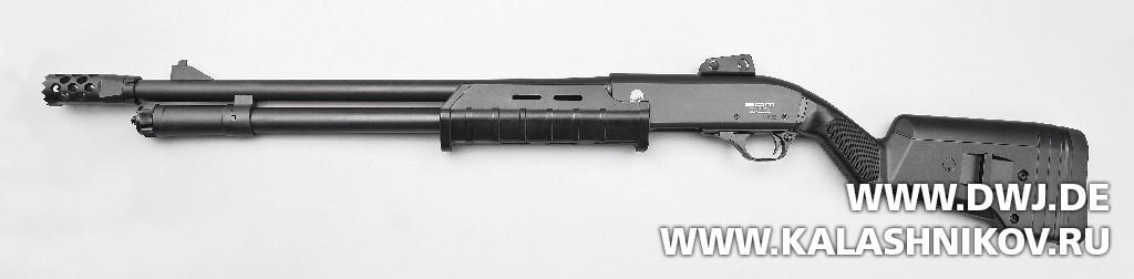 Многозарядное ружьё SDM М870. Вид слева. Журнал Калашников