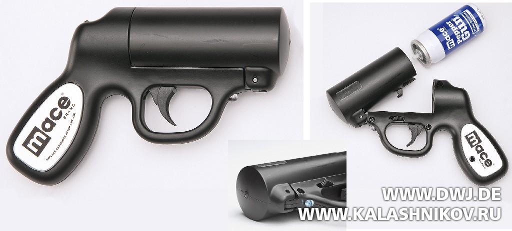 Пистолет Mace Papper Gun. Журнал Калашников