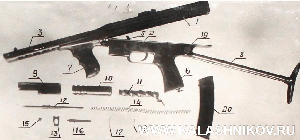 Пистолет-Пулемёт М. Т. Калашникова, неполная разборка. Журнал Калашников