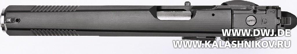 Спортивный пистолет AKAH CZ 75B 6.0. Вид сверху. Журнал Калашников