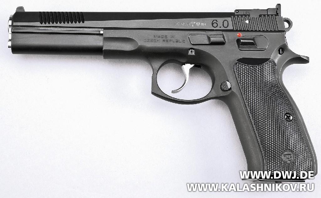Спортивный пистолет AKAH CZ 75B 6.0. Журнал Калашников