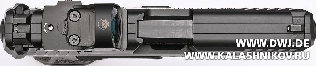 Пистолет HK SFP9 OR. Крепление прицельных приспособлений. Журнал Калашников