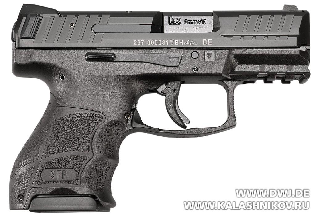 Пистолет HK SFP9 OR. Вид справа. Журнал Калашников
