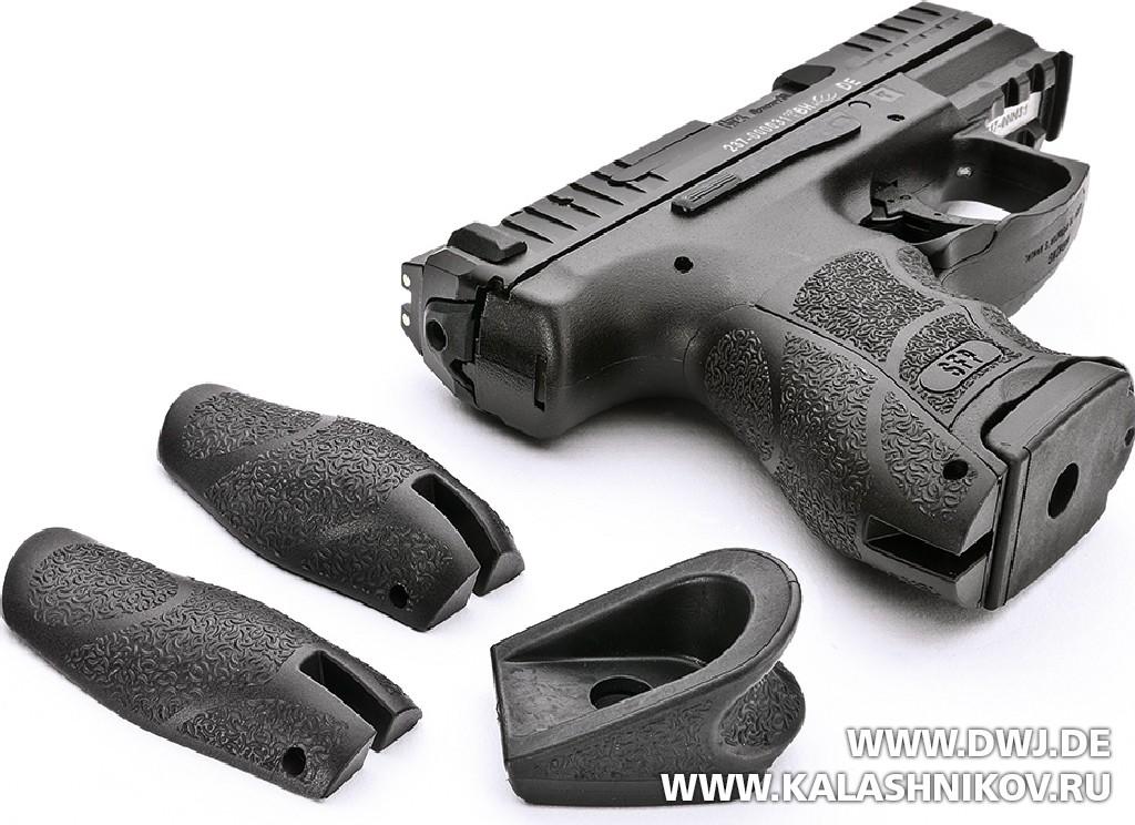 Пистолет HK SFP9 OR. Дополнительные аксессуары. Журнал Калашников