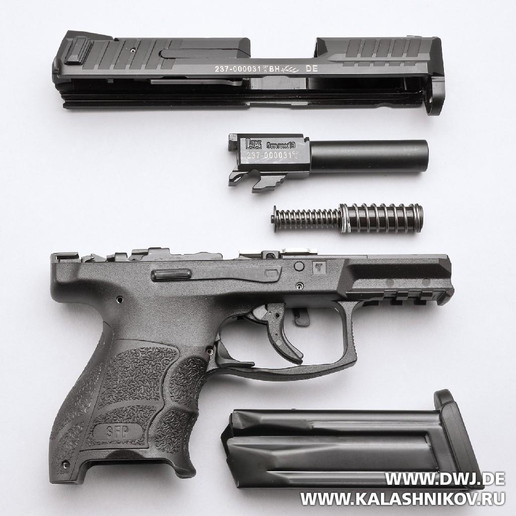 Неполная разборка пистолета HK SFP9 OR. Журнал Калашников