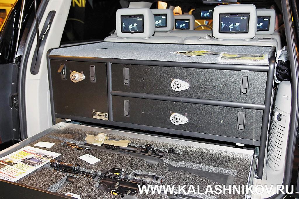 Оружейный сейф в багажнике