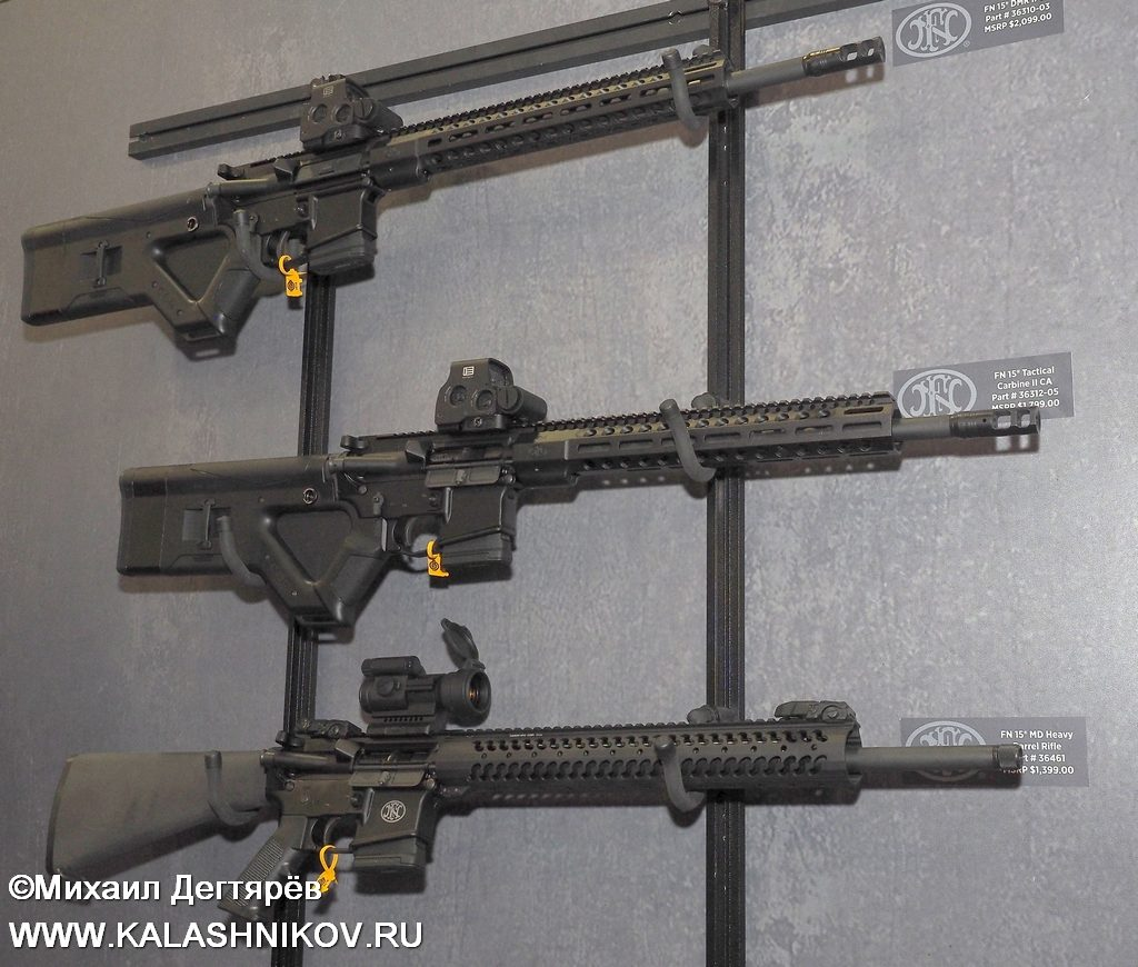 FN, FN Browning, FN Herstal, assault rifle. FN 15, штурмовая винтовка, SHOT Show 2019
