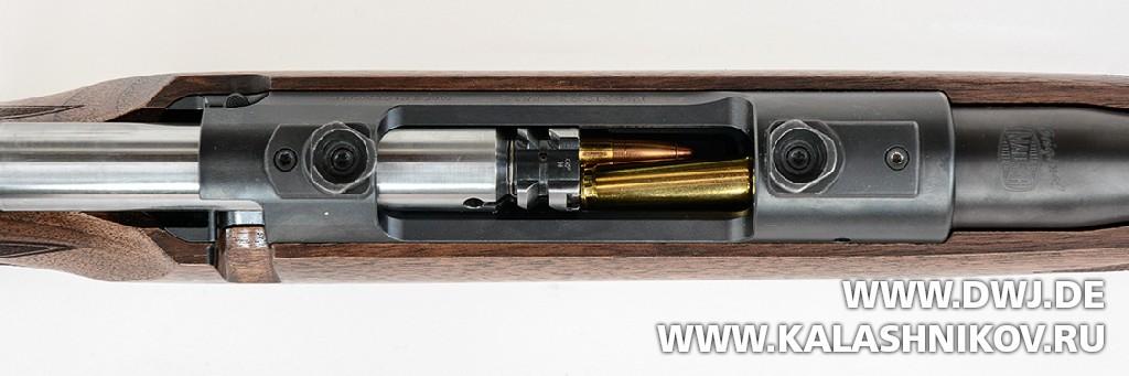 Винтовка Mauser М12. Вид на затвор и систему досылания