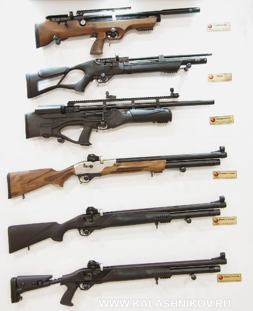 Пневматические винтовки Hatsan FlashPup QE, Flash, Hercules Bully, Galatian 5 Auto, Galatian 6 Auto иGalatian Tact Auto.