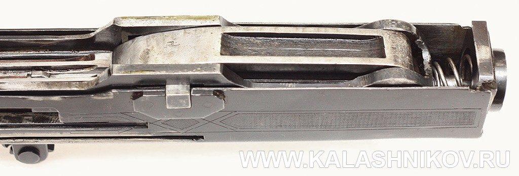 Опытный ручной пулемёт Калашникова. Запирающий механизм.
