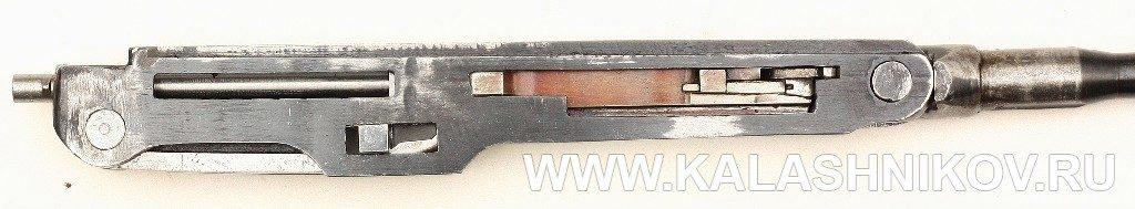 Опытный ручной пулемёт Калашникова. Ствольная коробка и механизм автоматики