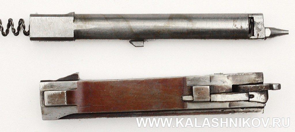 Опытный ручной пулемёт Калашникова. Ударник и затвор