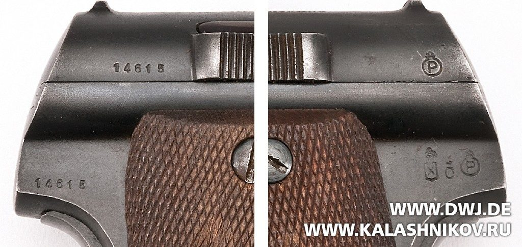 Серийный номер и клейма испанского пистолета Astra M 600/43
