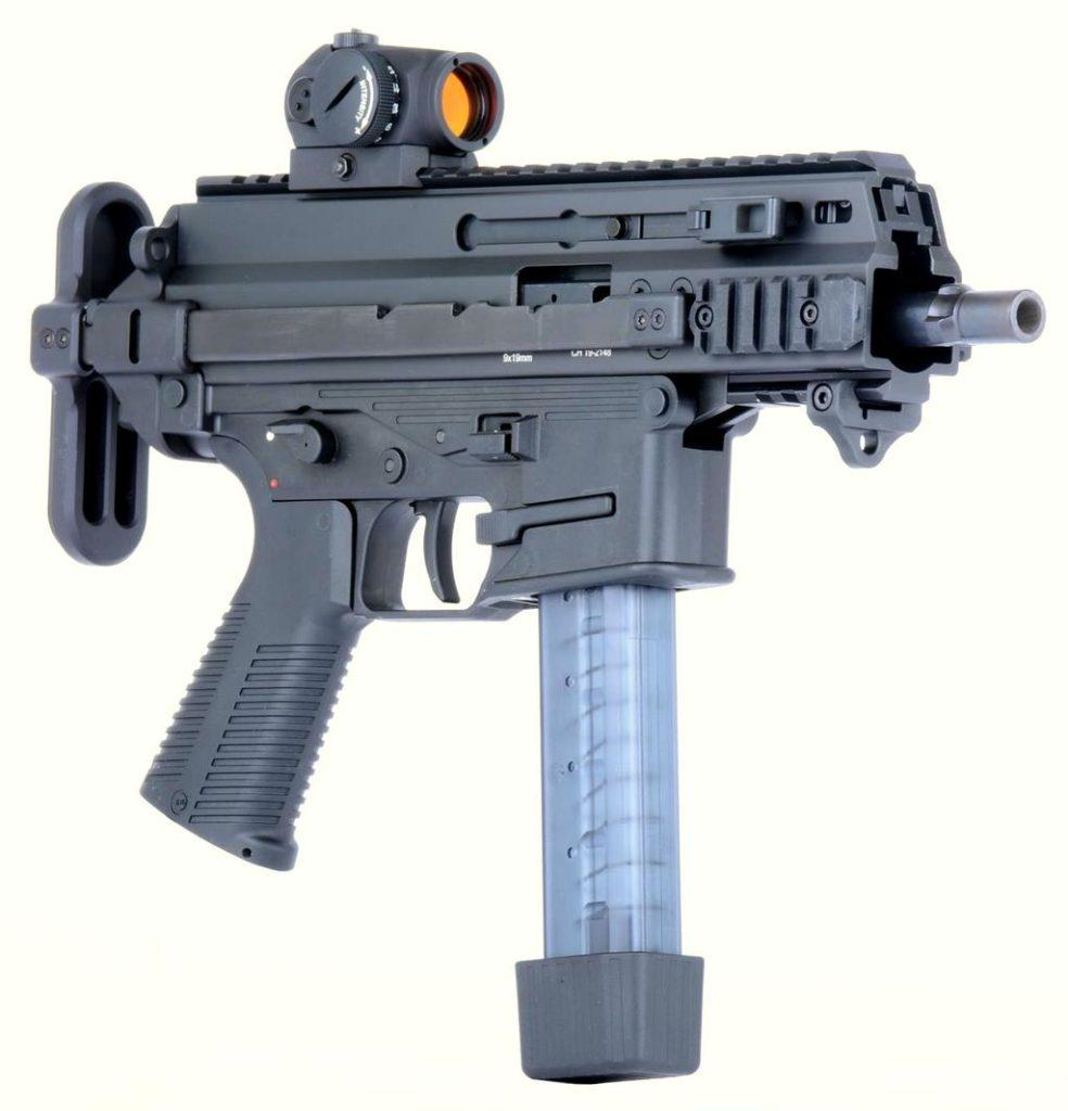 Пистолет-пулемёт B&T APC 9 с прицелом Aimpoint Micro