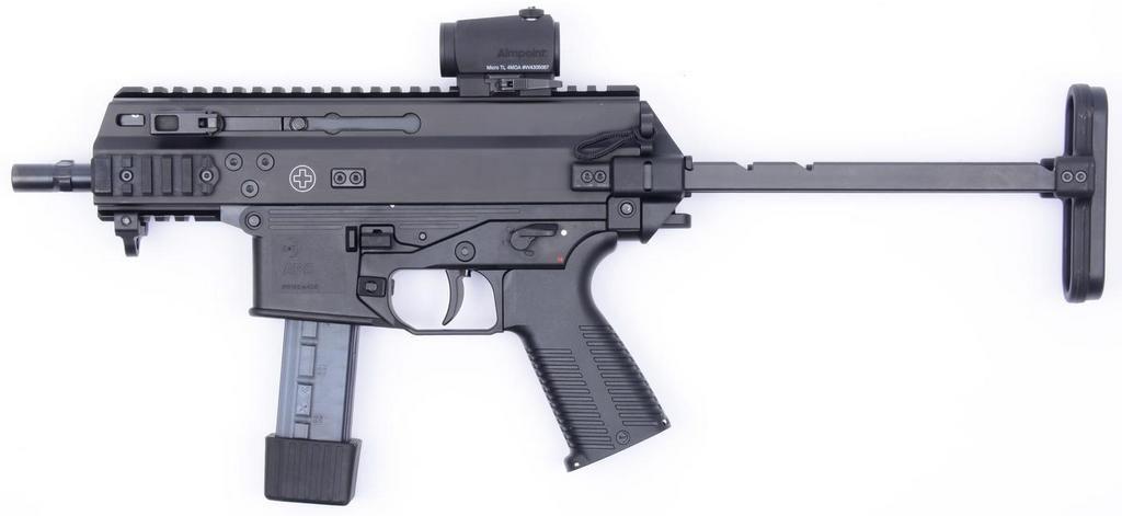 Пистолет-пулемёт B&T APC 9 с прикладом в боевом положении
