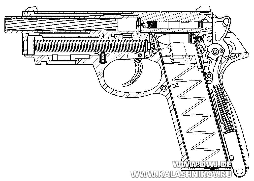 Схема пистолета Beretta Px4 SD