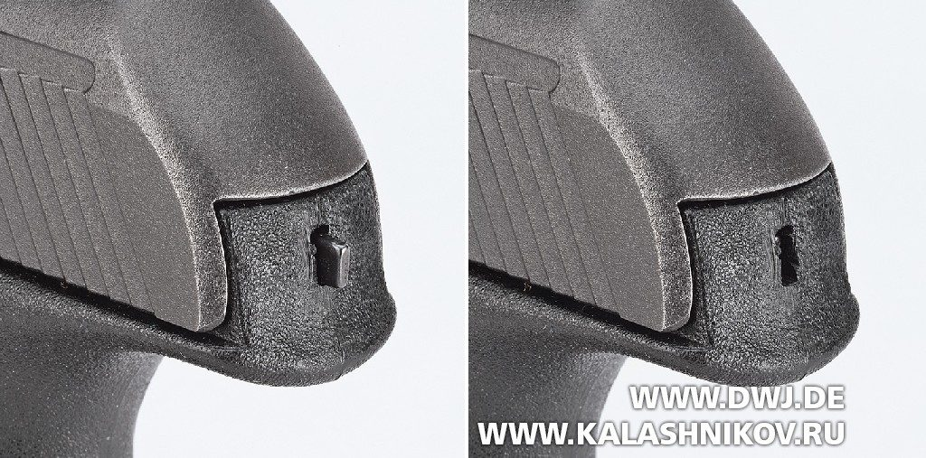 Индикатор взведения пистолета в двух положениях H&K P9S