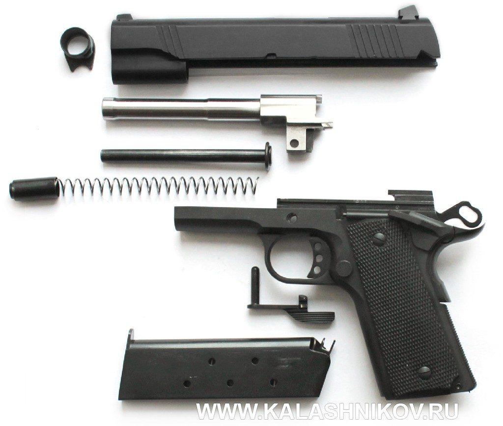 Травматический пистолет ТК1911Т. Неполная разборка
