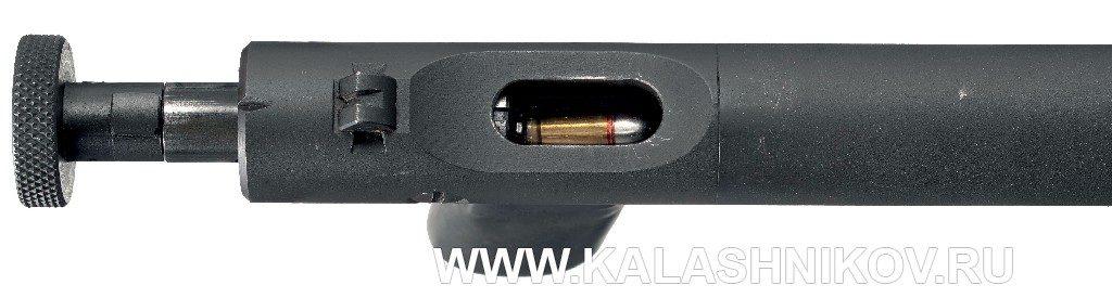 Заряжание бесшумного пистолета Welrod Mk. IIa