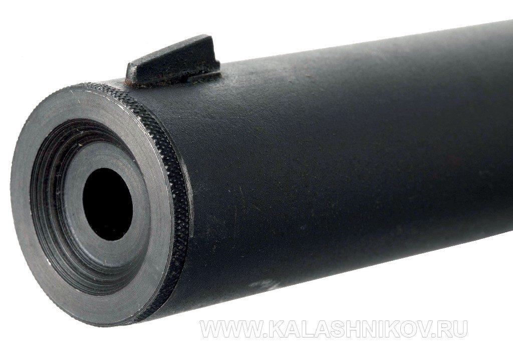 Бесшумный пистолет Welrod Mk. IIa. Торцевая часть глушителя