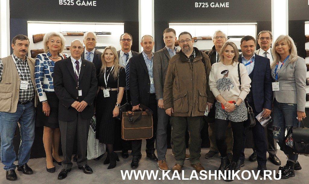 Руководство компании Browning и «Русимпэкс» на выставке IWA 2019