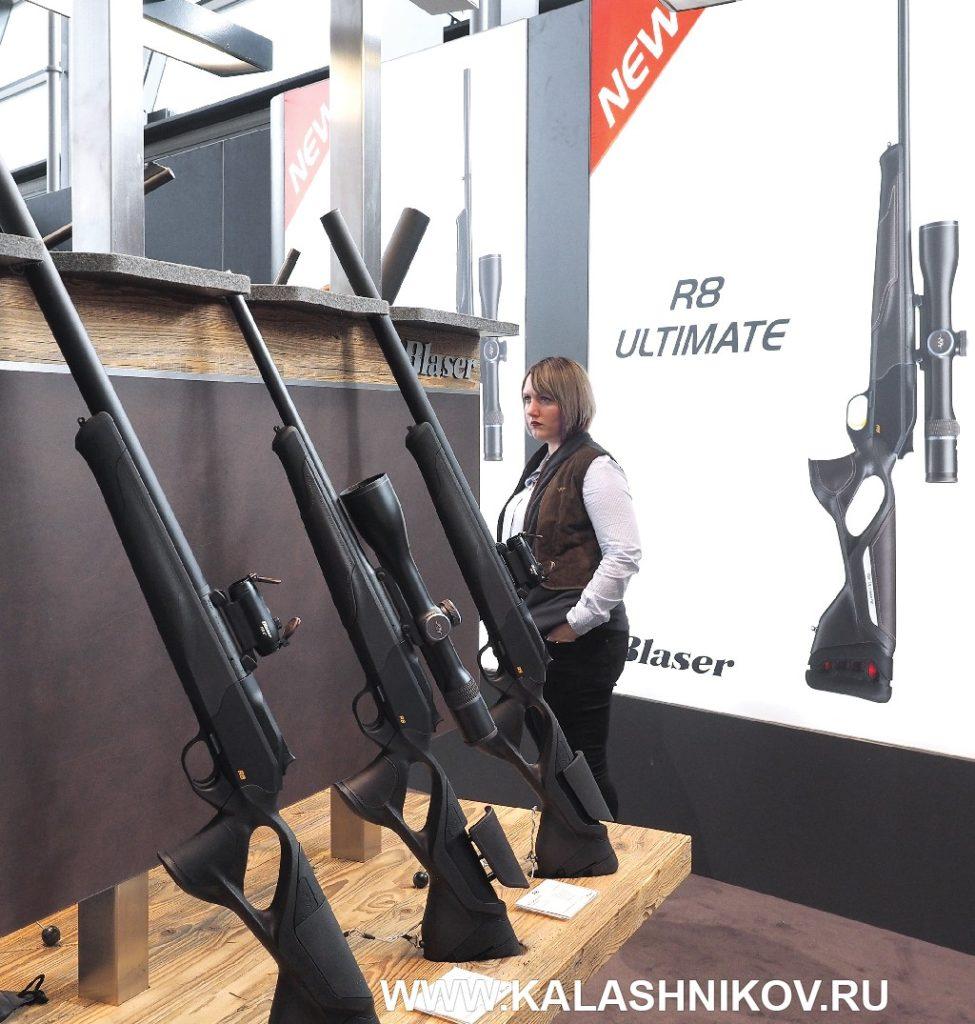 карабин Blaser R8 Ultimate на выставке IWA 2019