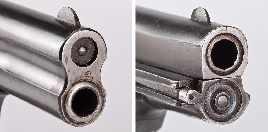 Сравнение дульных частей FN 1900 и пистольвера