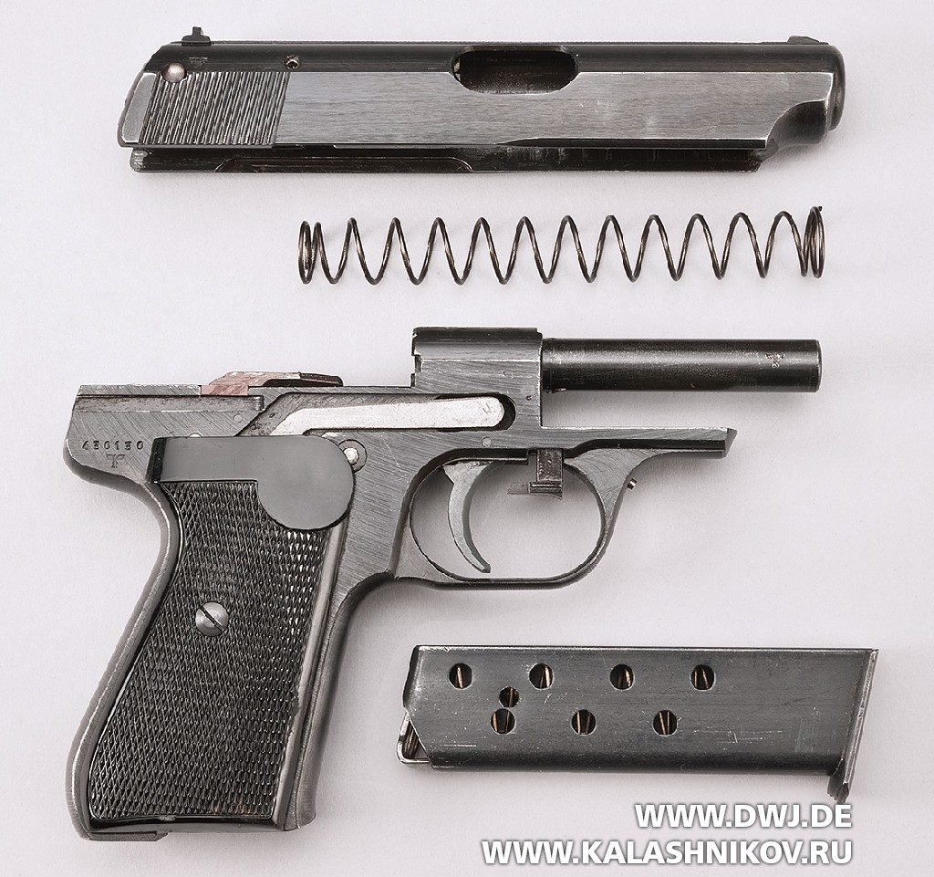 неполная разборка пистолета  Sauer & Sohn 38