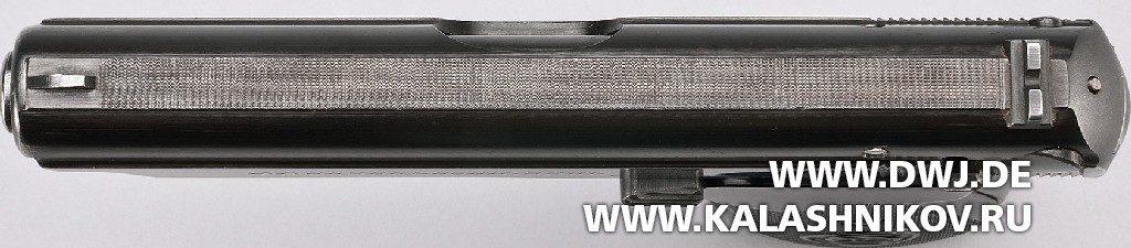пистолет  Sauer & Sohn 38 вид сверху