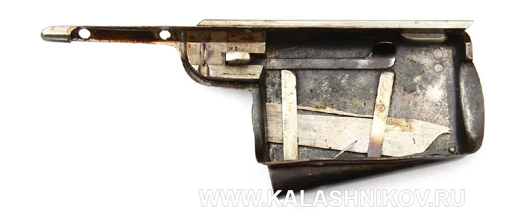 Открытый магазин с отключенной пружиной 4,2-лин. магазинной переделочной винтовки конструкции Бердана-Игнатовича 1885г.