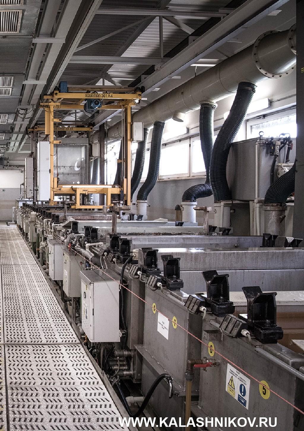 гальванический участок на производстве CZ