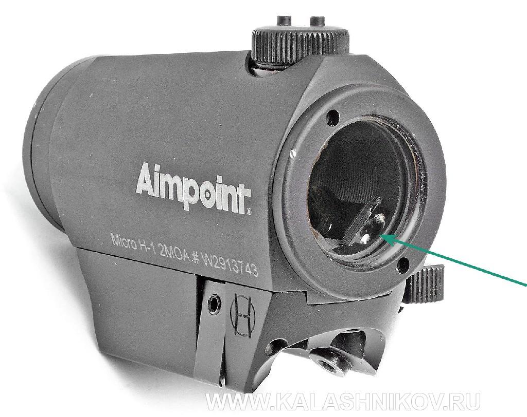коллиматорный прицел, Aimpoint Micro H-1, red dot.