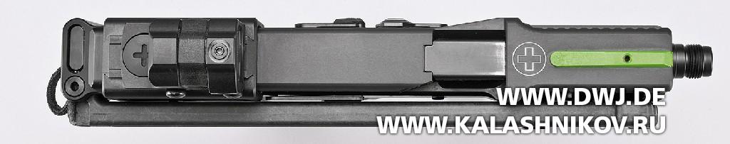 Пистолет USW A1. Вид сверху
